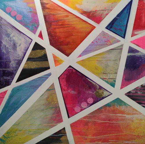 Acryl Bild bunte Dreiecke