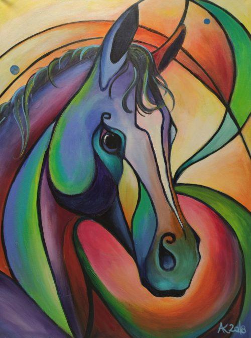 Acryl Bild Pferd